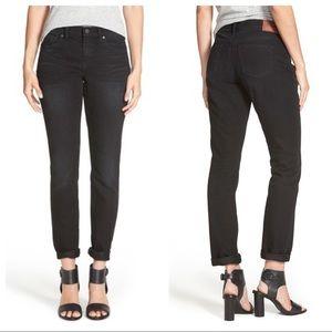 Madewell Slim Boyfriend Skinny Black Jeans Sz 25